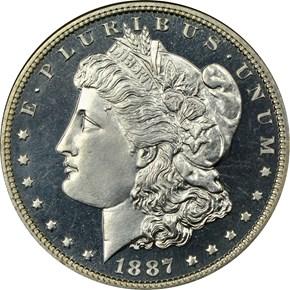 1887 $1 PF obverse