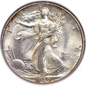 1919 S 50C MS obverse