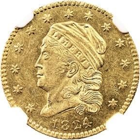 1824/1 BD-1 $2.5 MS obverse