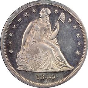 1844 S$1 PF obverse