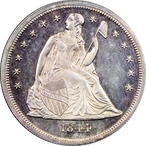 1844 $1 PF obverse