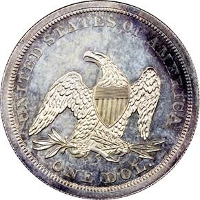 1844 $1 PF reverse