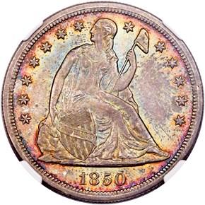 1850 O $1 MS obverse