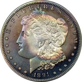 1891 $1 PF obverse