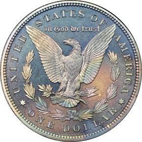 1891 $1 PF reverse