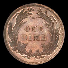 1892 10C PF reverse