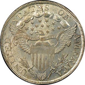 1798 LARGE EAGLE S$1 MS reverse