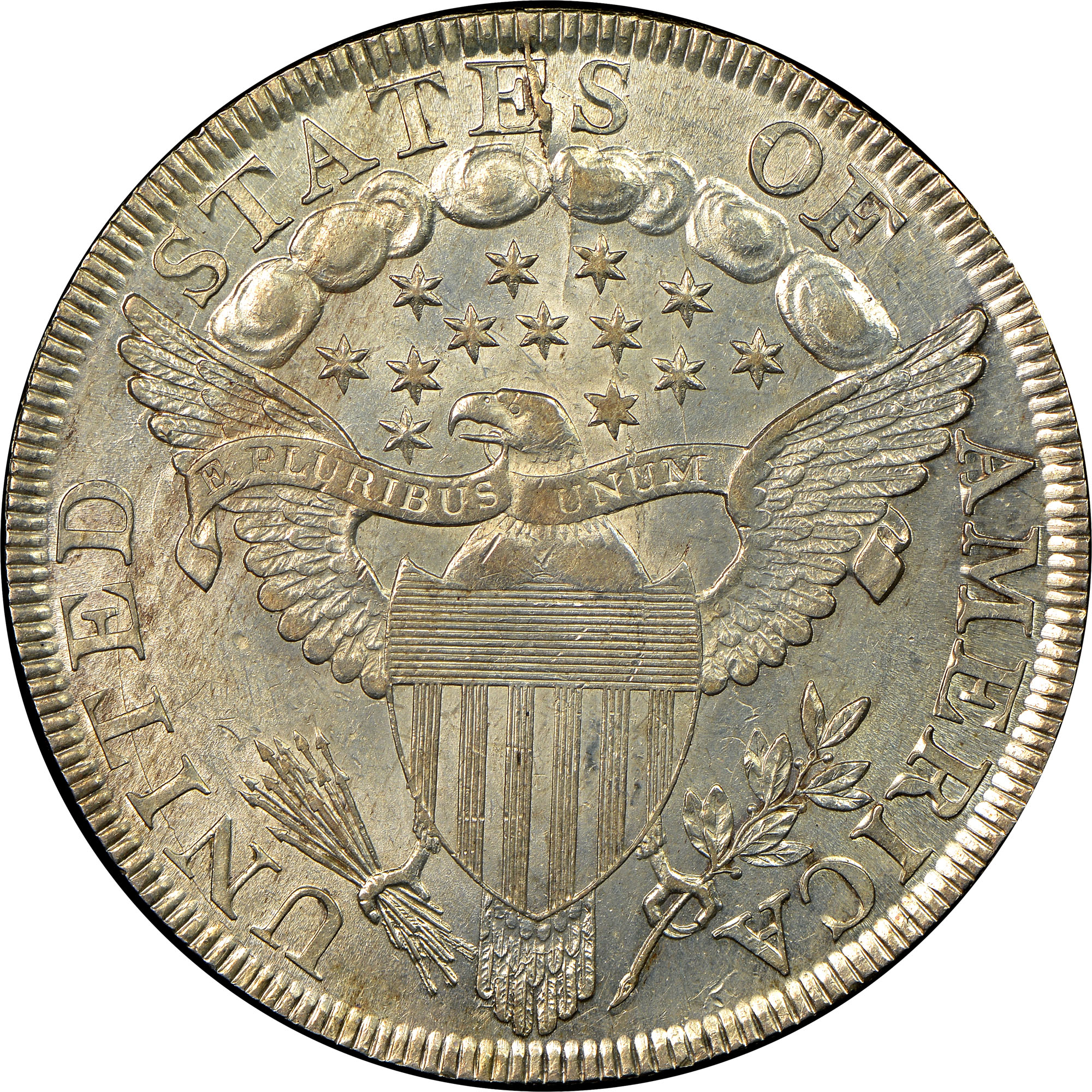 1798 Large Eagle 1 Ms Early Dollars Ngc