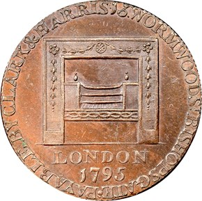 1795 R.E. LG BUTTONS WASHINGTON - GRATE 1/2P MS reverse