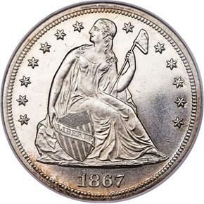 1867 $1 MS obverse