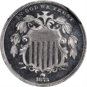 1873 J-1265 5C PF obverse