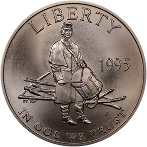 1995 S CIVIL WAR 50C MS obverse