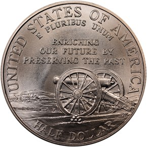 1995 S CIVIL WAR 50C MS reverse