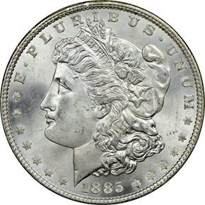 1885 S$1 MS obverse