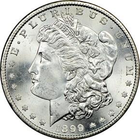 1899 S $1 MS obverse