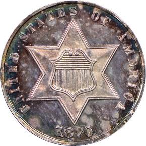 1870 3CS PF obverse