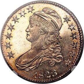1823 50C PF obverse