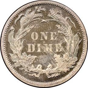 1881 10C PF reverse