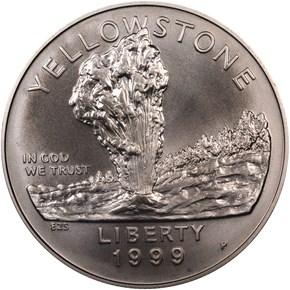 1999 P YELLOWSTONE S$1 MS obverse