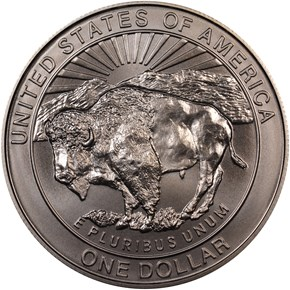 1999 P YELLOWSTONE S$1 MS reverse