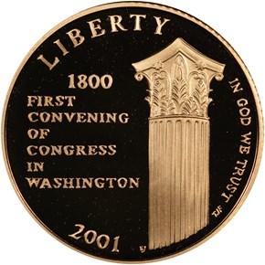 2001 W CAPITOL $5 PF obverse