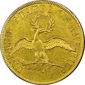 1796 BD-1 $10 MS reverse
