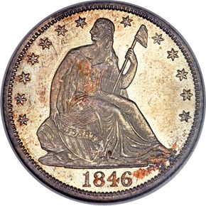 1846 O TALL DATE 50C MS obverse