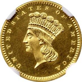 1867 G$1 PF obverse