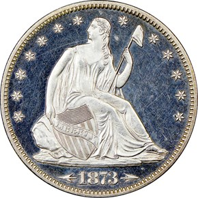 1873 ARROWS 50C PF obverse