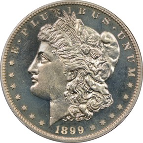 1899 $1 PF obverse