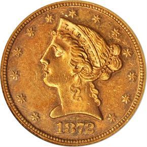 1872 $5 PF obverse