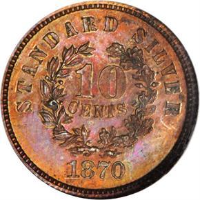 1870 J-863 10C PF reverse