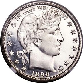 1898 O 50C MS obverse