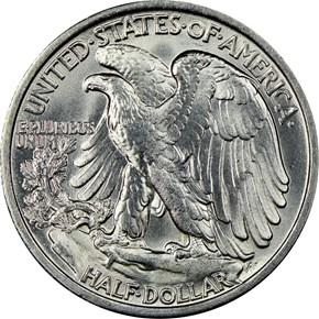 1935 50C MS reverse