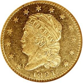 1821 BD-1 $2.5 MS obverse