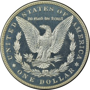 1886 S$1 PF reverse