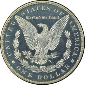 1886 $1 PF reverse