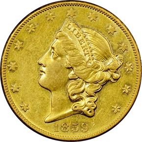 1859 O $20 MS obverse