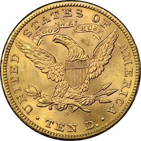 1901 S $10 MS reverse