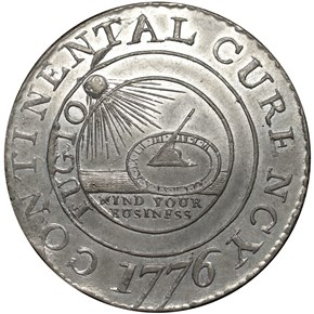 1776 PEWTER 'CURENCY' CONTINEN obverse