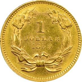 1859 G$1 MS reverse