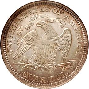 1866 MOTTO 25C MS reverse