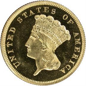 1859 $3 PF obverse