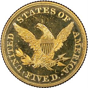 1860 $5 PF reverse