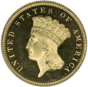 1862 $3 PF obverse