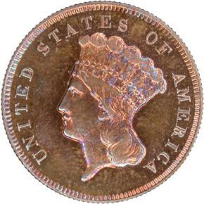 1865 J-441 $3 PF obverse