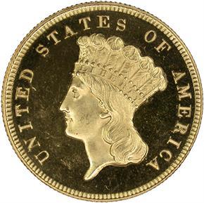 1866 $3 PF obverse
