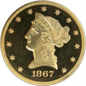1867 $10 PF obverse
