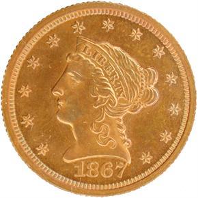 1867 $2.5 PF obverse