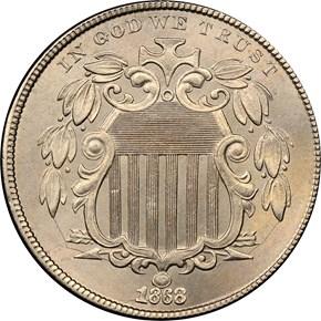 1868 5C MS obverse